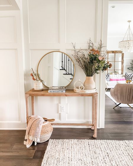Console table styling✨ Love this round mirror and these textured vases and accessories 🤍 http://liketk.it/3g4QP #liketkit @liketoknow.it #LTKstyletip #LTKhome #LTKunder50 @liketoknow.it.family @liketoknow.it.home Shop my daily looks by following me on the LIKEtoKNOW.it shopping app