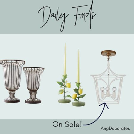 Daily Finds: Anthropologie vases, Anthropologie lemon toleware candlesticks, and a Kate Spade lantern on sale  #LTKhome