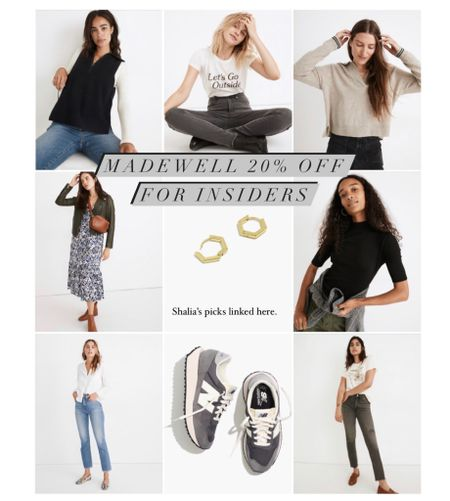 Madewell 20% off for insiders sale. Sign-up is free and easy! These are my picks, and I grabbed myself a few fall basics!   #LTKshoecrush #LTKsalealert #LTKunder50