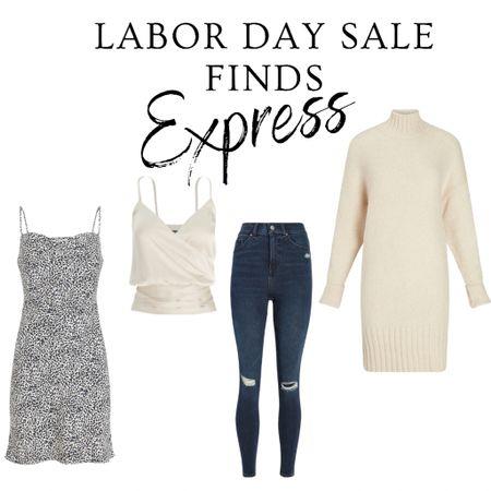 Labor Day, sales, fall outfits, outfits, sweater dress, slip dress, jeans   #labordaysales #express   #LTKunder50 #LTKsalealert #LTKstyletip