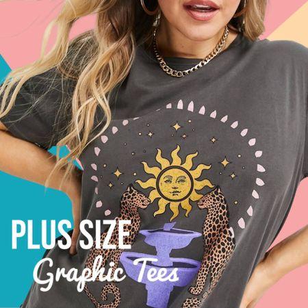 Plus size graphic tees   #LTKunder50 #LTKstyletip #LTKcurves