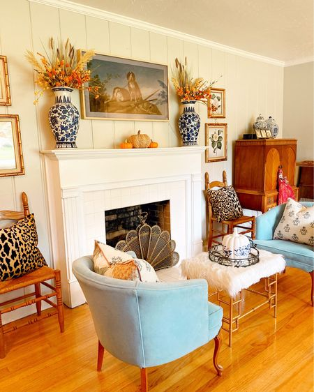 I did a little rearranging and added a few fall touches to my front living room. This room is my absolute favorite! New rug is coming soon!  #livingroomdecor #fireplacedecor #fallmantle #fallhomedecor #blueandwhitehome #blueandwhiteforever #antiques #heirlooms #vintagehome#vintagestyle#grandmillennial#grandmillennialstyle#grandmillennialdecor#collectedhome#chinoiserie#chinoiseriehic#traditionalhome#decorcushing#heirloomhome#sentimentalattachments#homeinspo#linkinbio#antiquelovers#vintagehomecrush#antiquefurniture#howivintage#vignette#homedecor#myhomestyle#mysouthernliving http://liketk.it/2Y2Pr #liketkit @liketoknow.it #StayHomeWithLTK #LTKunder100 #LTKhome @liketoknow.it.home Shop your screenshot of this pic with the LIKEtoKNOW.it shopping app