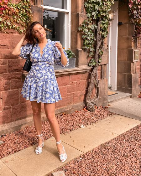 I spied this beautiful blue floral print dress in Paris and had to get it for so many upcoming occasions - and wore it to a wedding this weekend. Got so many compliments!