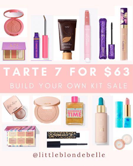 Tarte 7 for $63 sale 🎉 Build your own kit! . . .  http://liketk.it/3hGfZ #liketkit @liketoknow.it #LTKbeauty #LTKsalealert #LTKunder100 sale, makeup, tarte, beauty