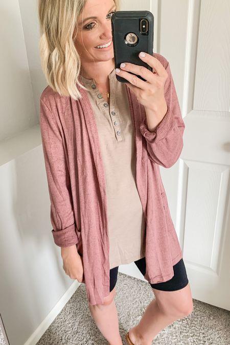 Pink cardigan. Amazon find.   #LTKunder50 #LTKstyletip