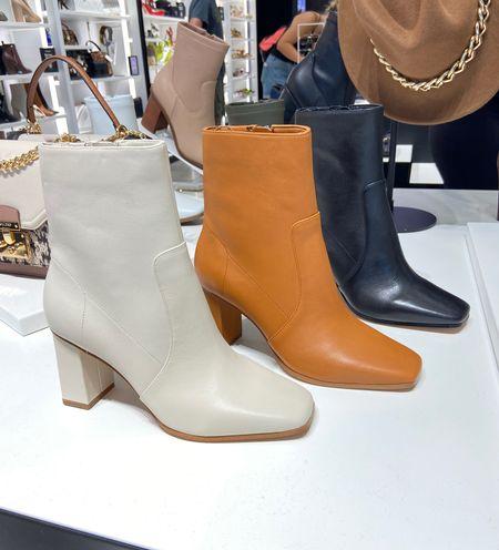Fall booties, fall boots, square toe boots, trendy fall fashion   #LTKshoecrush #LTKstyletip #LTKSeasonal