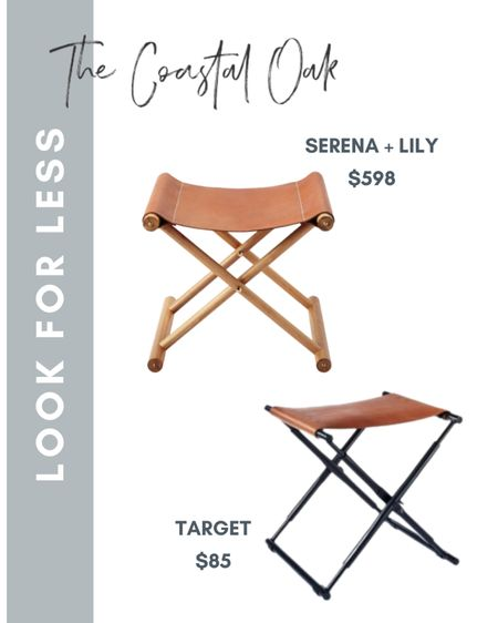 Came across a great Serena and Lily camp stool look for less!   #LTKhome #LTKSeasonal