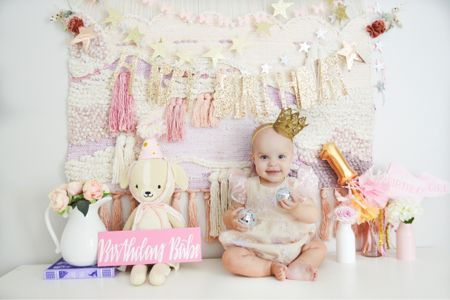 First birthday party, birthday photos, baby girl, baby girl nursery  #LTKhome #LTKbaby #LTKfamily