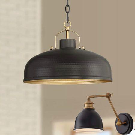 Black kitchen pendant and black wall sconce http://liketk.it/3c6NI #liketkit @liketoknow.it