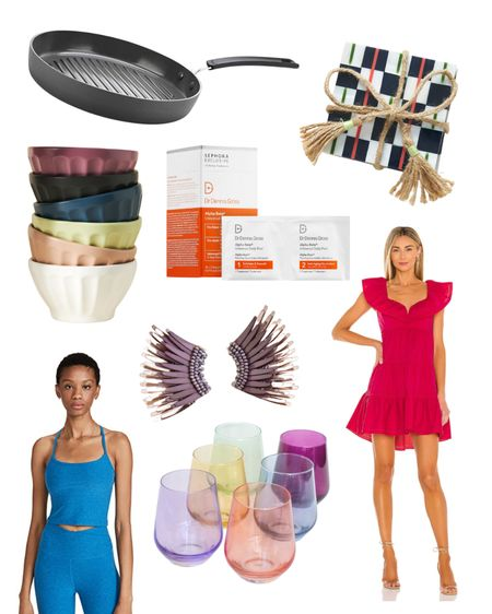 My current obsessions including home and kitchen accessories, as well as my favorite earrings and workout top! #anthropologie #revolve #kitchen #homedecor   #LTKbeauty #LTKhome
