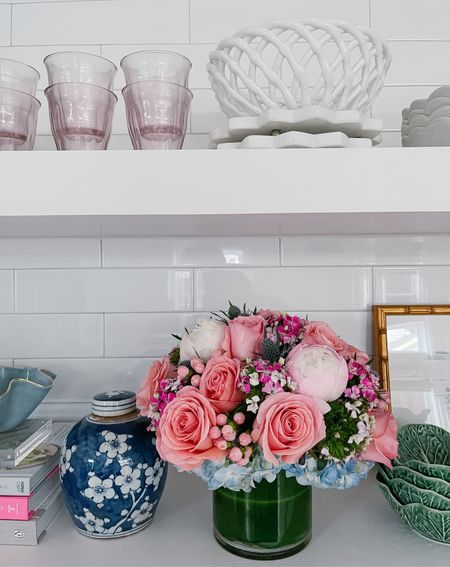 Love the floating shelves in our kitchen!   #LTKhome