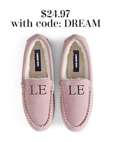 Monogram shearling slippers Under $25.00 great gift idea  #LTKGiftGuide #LTKhome #LTKunder50