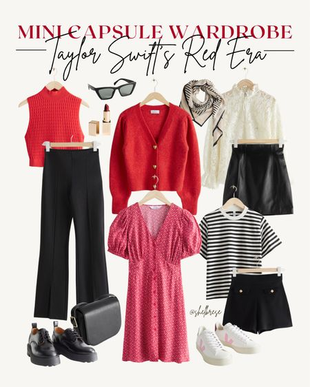 mini capsule wardrobe inspired by taylor swift's red era ❤️  #LTKunder100 #LTKstyletip #LTKunder50