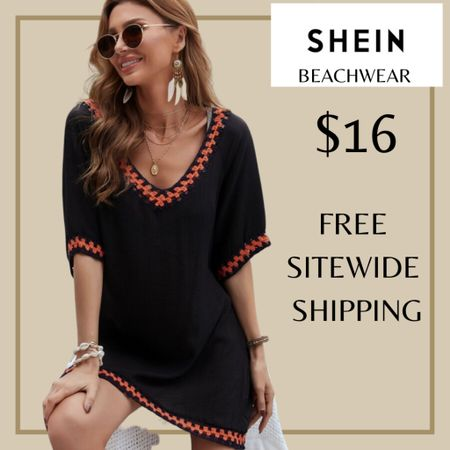 V-neck swimsuit beach cover up from Shein and free sitewide shipping today   http://liketk.it/3i00o #liketkit @liketoknow.it #LTKswim #LTKunder50 #LTKstyletip You can instantly shop my looks by following me on the LIKEtoKNOW.it shopping app