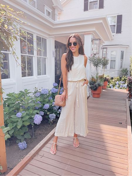 Obsessed with this Splendid jumpsuit, it's perfect for summer in Nantucket! Runs true to size, I'm wearing XS. You can use code GLAM20 for 20% off!