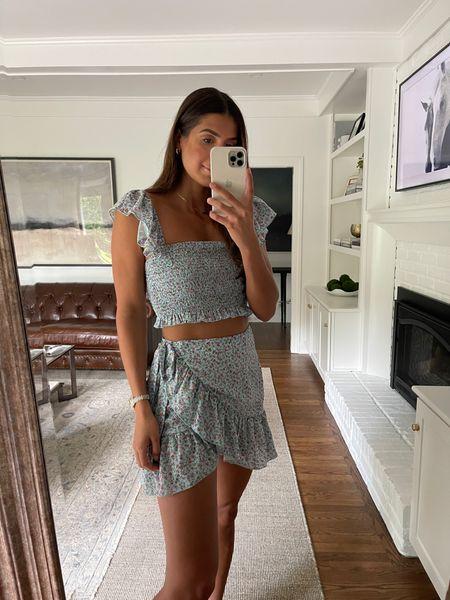 Skirt set for summer from Amazon fashion (medium!)   #LTKunder50 #LTKswim #LTKtravel