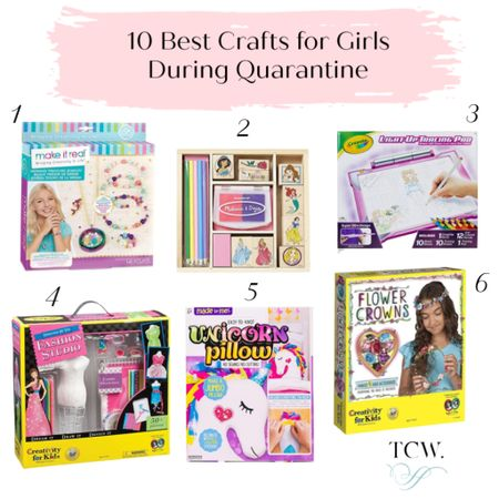 Mamas, how are you hanging in during quarantine? I want to ease your burden, so I've put together a full blog post of Lily's favorite crafts (link in bio) that have been keeping her busy! I'm sharing an additional 4 screen-free activities here only. Screenshot this pic to get shoppable product details with the @liketoknow.it shopping app. Find me there as 'TheClassyWoman' . We're all in this together, let's keep our kids happy, learning new skills and having fun! ❤️ W http://liketk.it/2Ouca #liketkit #StayHomeWithLTK #LTKkids #quarantine #girlscrafts #DIY #wfh #momlife #homeschool