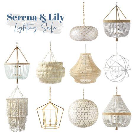 Serena and Lily chandeliers on sale!     #LTKhome #LTKsalealert #LTKunder100