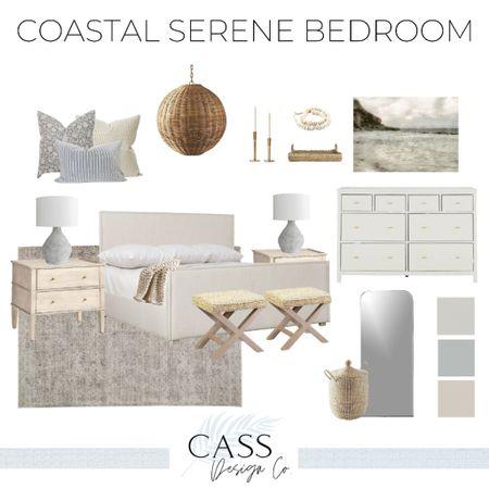 Master bedroom Bedroom decor Coastal bedroom Modern coastal Coastal style Primary bedroom    #LTKhome