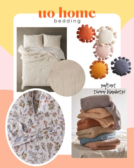Urban outfitters affordable bedding! I have these fleece blankets and they are definitely Barefoot Dreams inspired! So soft. #liketkit #LTKhome @liketoknow.it @liketoknow.it.home http://liketk.it/3jWZM