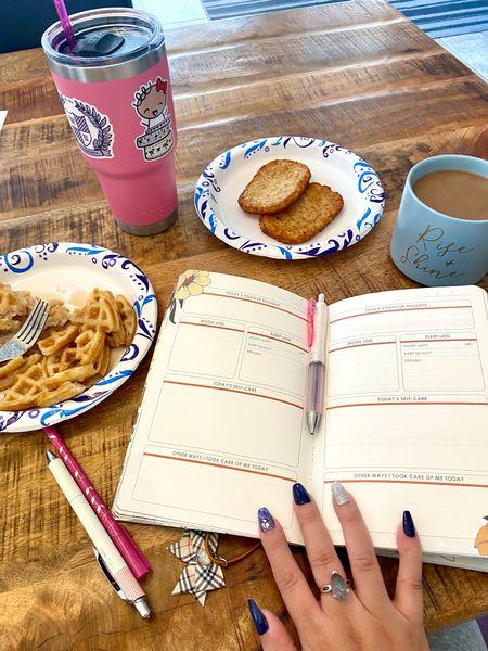 Selfcare Sunday Breakfast! Carbs 😂 #selfcare  Journaling!   #LTKhome #LTKunder50 #LTKfamily
