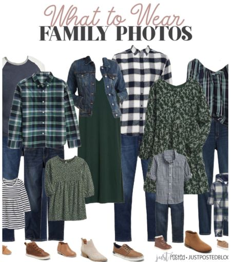 What to wear for family pictures featuring navy and green! This look is perfect for fall or Christmas family photos!  Christmas  Family  Holiday  Photos   #LTKHoliday #LTKSeasonal #LTKfamily