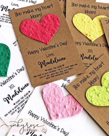 Non-Candy, environmentally friendly V-Day option! These are not on s@le but they're such a creative idea I wanted to share!  Note from the seller: These cute little eco-friendly valentines include a biodegradable seed paper that will grow into flowers when planted! Also makes a great valentine for teacher! http://liketk.it/37hMr #liketkit @liketoknow.it #LTKSeasonal #LTKVDay #LTKkids
