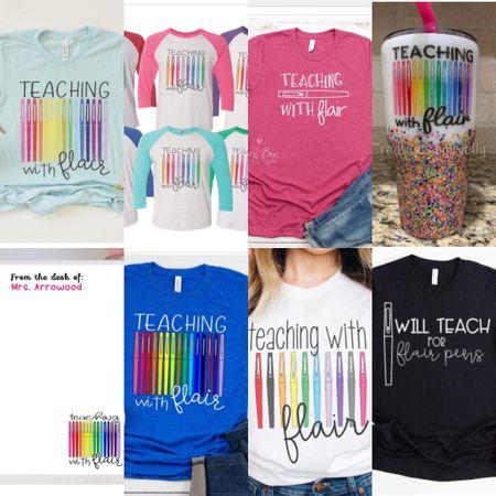 Teaching with flair, teacher gifts, teacher outfit, graphic tee http://liketk.it/3fGG8 #liketkit @liketoknow.it #LTKworkwear #LTKunder50 #LTKstyletip