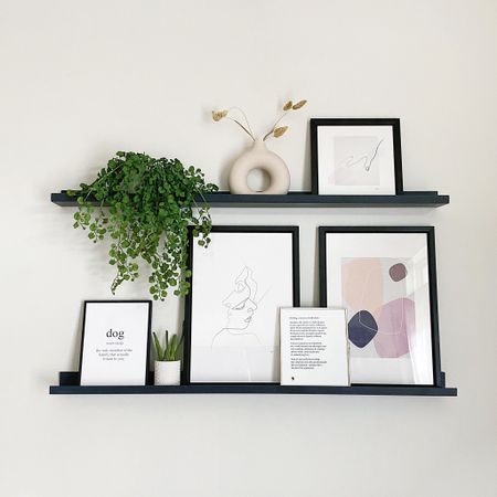 Just added these decorative shelves to the living room 😍I just love being able to change little things around rather than committing to one thing. Everything is linked via @liketoknow.it 💞 #LTKhome #liketkit http://liketk.it/3bOsR
