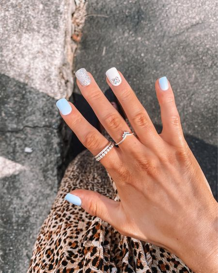 $7 press on nails & what I got during my target haul! #LTKunder50 #LTKunder100 #LTKstyletip target finds press on nails at home nails cute spring nails http://liketk.it/3blkf #liketkit @liketoknow.it stackable rings silver stackable rings