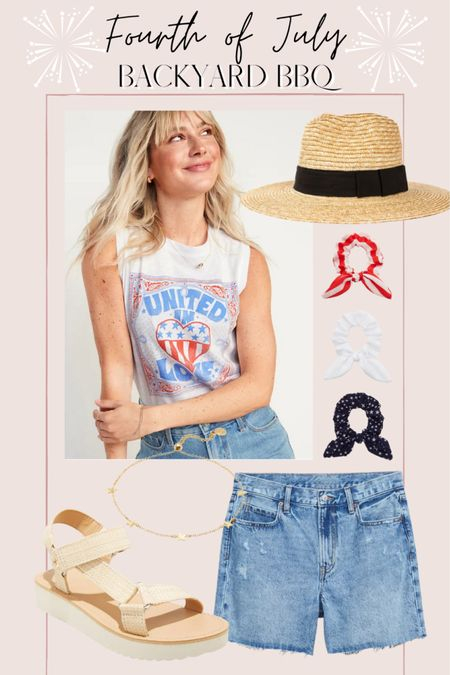Casual backyard bbq Fourth of July outfit http://liketk.it/3hR1S @liketoknow.it #liketkit #LTKunder50 #LTKunder100 #LTKsalealert