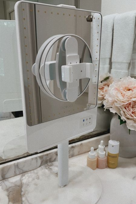 Riki 10x lighted mirror on sale and adjustable stand NSale Nordstrom, Herfashionedlife   #LTKsalealert #LTKunder100 #LTKbeauty