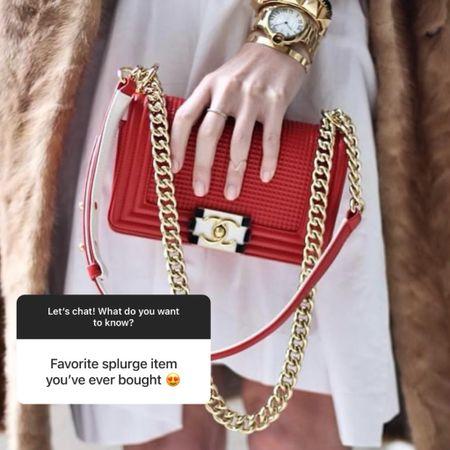 My Chanel red boy bag is my favorite spurge item. Linking several boy bags below.   #LTKstyletip #LTKitbag