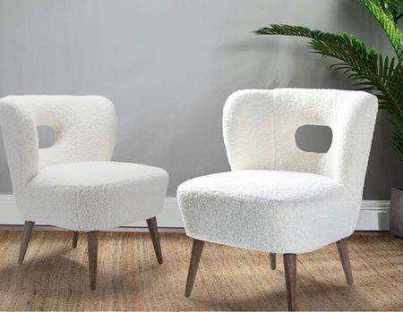 Memorial Day Sale— this pair of chic and comfy  boucle chairs are just so adorable and will absolutely fresh up any space with simplicity.   #LTKsalealert #LTKhome
