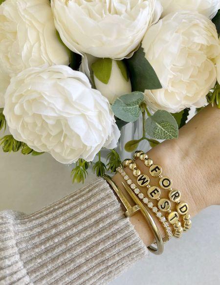 J E W E L S \ personalized bracelets fort boys!!🖤🖤 Would make a great holiday gift🎁  #gift #holiday #bracelet   #LTKunder50 #LTKHoliday