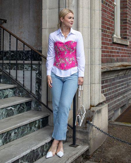 Corset, Amazon Fashion, Agolde denim, spring outfit @liketoknow.it http://liketk.it/3dqVP #liketkit #LTKunder100 #LTKworkwear #LTKstyletip
