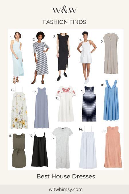 Summer dresses, house dresses, striped dresses, midi dresses, tshirt dresses @liketoknow.it http://liketk.it/3hak2 #liketkit