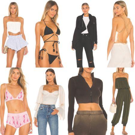 New spring looks: black bikini, backless top, jumper, pink lounge set, crop top, frill shorts. ✨💛 http://liketk.it/3c11E    #liketkit #LTKstyletip #LTKswim #LTKtravel @liketoknow.it