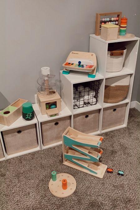 Playroom. Toddler toys. Baby toys. Playroom organization. Cube organizer. Target home. Storage bins. Lovevery play kits. Toy organization.   #LTKhome #LTKbaby #LTKkids