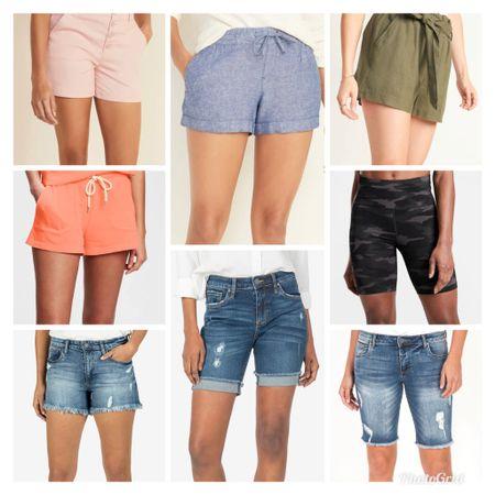 Shorts Shorts Shorts!!  All different lengths and styles to fit all body types. Many on sale! http://liketk.it/3aa0n #liketkit @liketoknow.it #LTKSeasonal #LTKsalealert #LTKstyletip