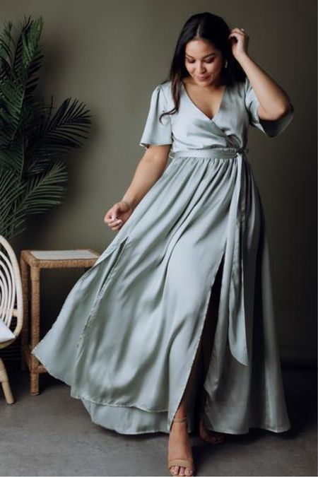 Dusty blue satin maxi dress—perfect for your engagement session or for a wedding guest dress. Now 15% off with code   http://liketk.it/3iwzm #liketkit @liketoknow.it #LTKwedding #LTKunder100 #LTKsalealert