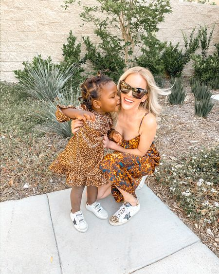 Mommy and mini matching leopard dress outfits and mommy and baby girl matching golden goose sneakers for the win 🥰🥰🥰  #liketkit @liketoknow.it my wayf slipdress is on sale for $23 and Little girls dress is on sale for $10! #LTKunder50 #LTKunder100 #LTKshoecrush #LTKstyletip #LTKsalealert #LTKfamily http://liketk.it/2Nub0  #LTKkids