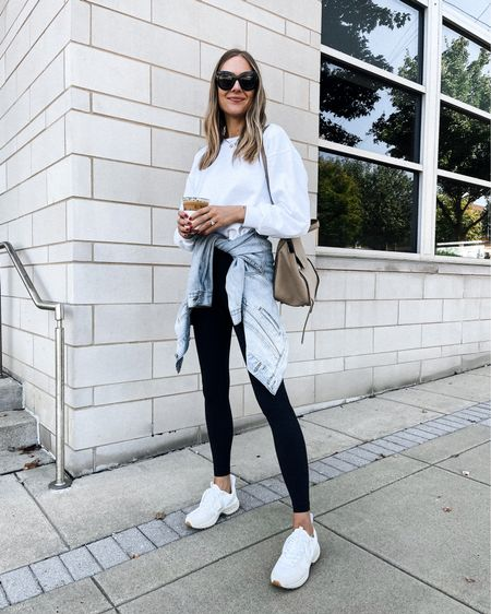 Casual weekend athleisure outfit #lululemon #veja #sneakers #falloutfits