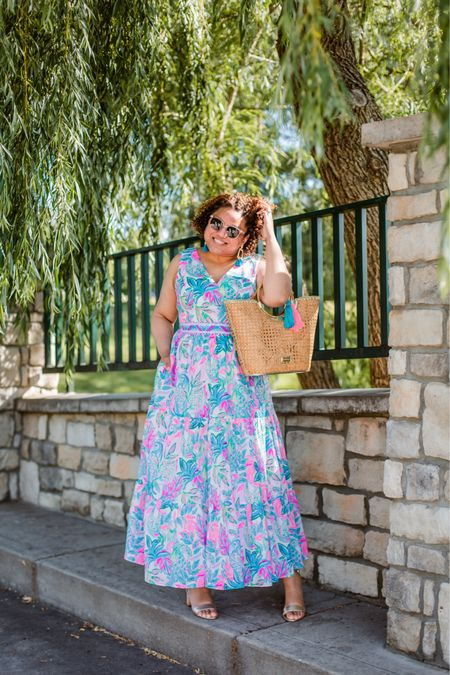 This print, this dress!!!!  This is another great option for a summer wedding!  10/10 recommend. I'm wearing my normal size 16, so fit is TTS in my opinion. http://liketk.it/3hlqu #liketkit @liketoknow.it You can instantly shop my looks by following me on the LIKEtoKNOW.it shopping app
