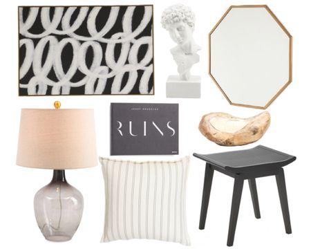 Home decor finds under $100  Art, artwork, abstract art, mirror, bust, coffee table book, lamp, stool, throw pillow, brass mirror, gold mirror, home decor, under 100, under 50, interior design, classic #LTKstyletip #LTKunder100 #LTKhome #liketkit @liketoknow.it http://liketk.it/3eHam