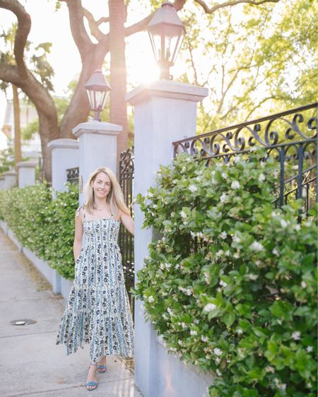 I wore this floral printed tie-shoulder dress on Saturday night and could honestly wear it everyday this summer, it's that fantastic 💫 When in doubt, wear a smocked dress! http://liketk.it/3h4qU @liketoknow.it #liketkit #LTKstyletip