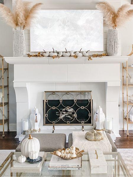 Fall mantle living room decor. Samsung Frame TV. Fall coffee table.    #LTKHoliday #LTKSeasonal #LTKstyletip
