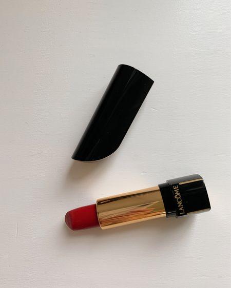 Exact color: LANCOME Le Carmin #195 L'Absolu Rouge Definition Lipstick LIMITED EDITION http://liketk.it/3eb38 #liketkit @liketoknow.it #LTKbeauty