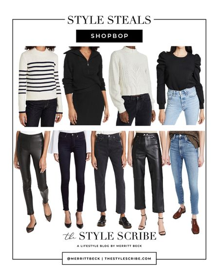 More picks from the Shopbop sale! This time I'm sharing my favorite basics 🖤 lots of great jeans, sweaters, and leather pants for fall!   #LTKSeasonal #LTKsalealert