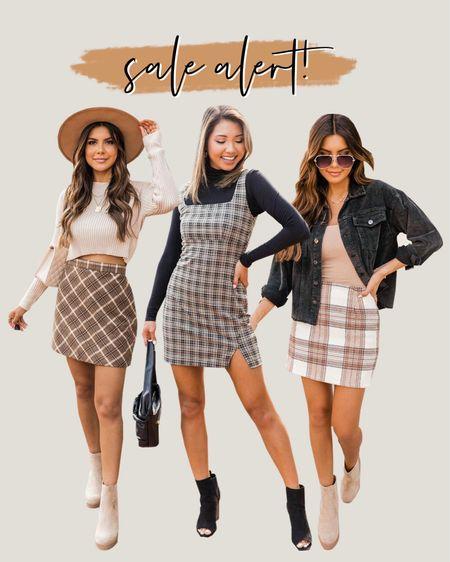 Pink Lily SALE! Fall fashion, fall style, plaid skirt   #LTKsalealert #LTKHoliday #LTKSale